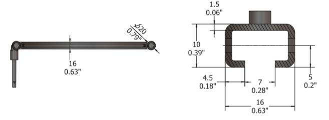 Mounting Bars D1000C