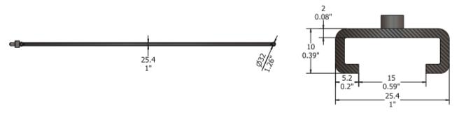 mounting bar D2000C